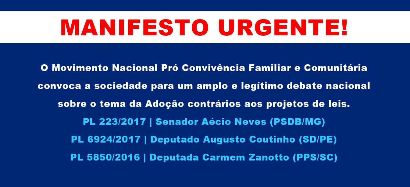 Manifesto urgente